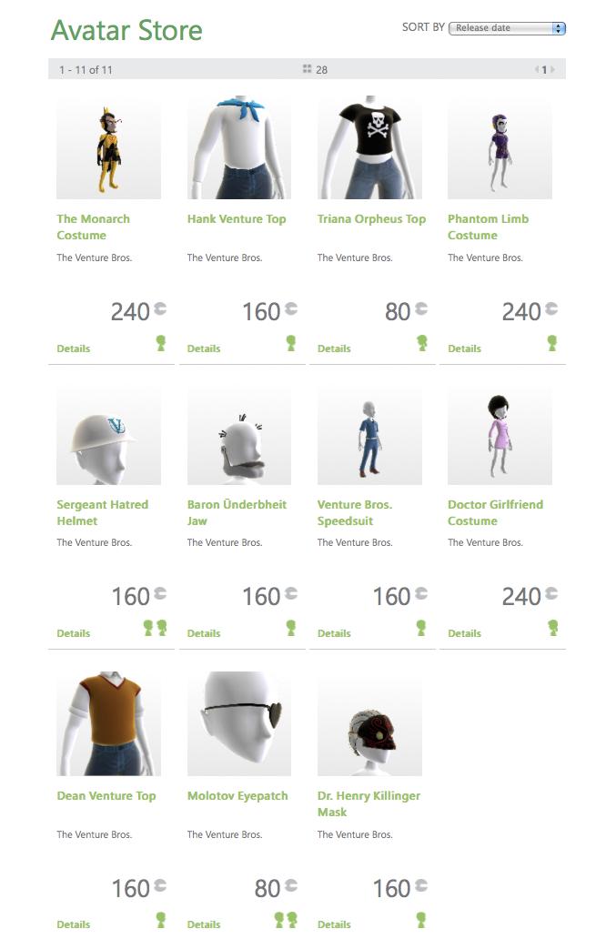 new-venture-bros-virtual-goods-xbox-live