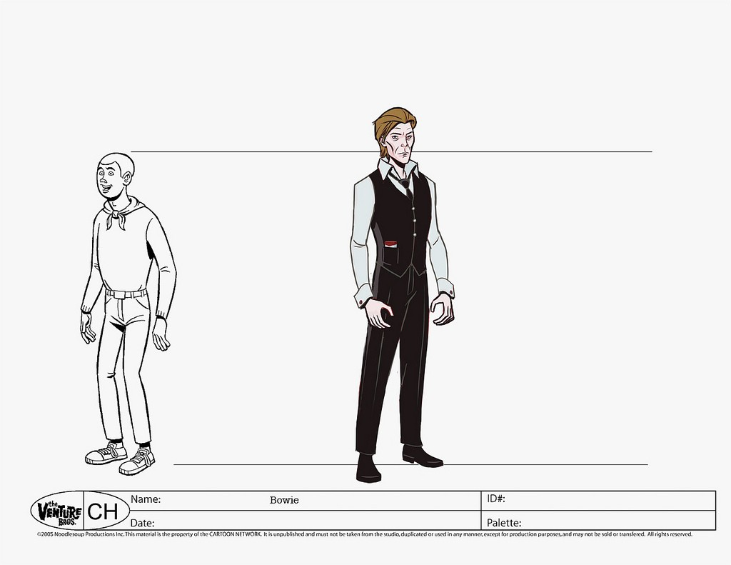 David Bowie Character Model on The Venture Bros.