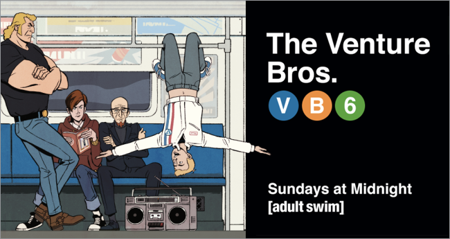 The Venture Bros. Season 6 Billboard by Patrick Ledger